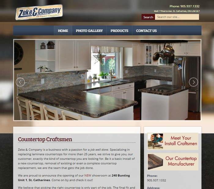 Countertop Installer Website