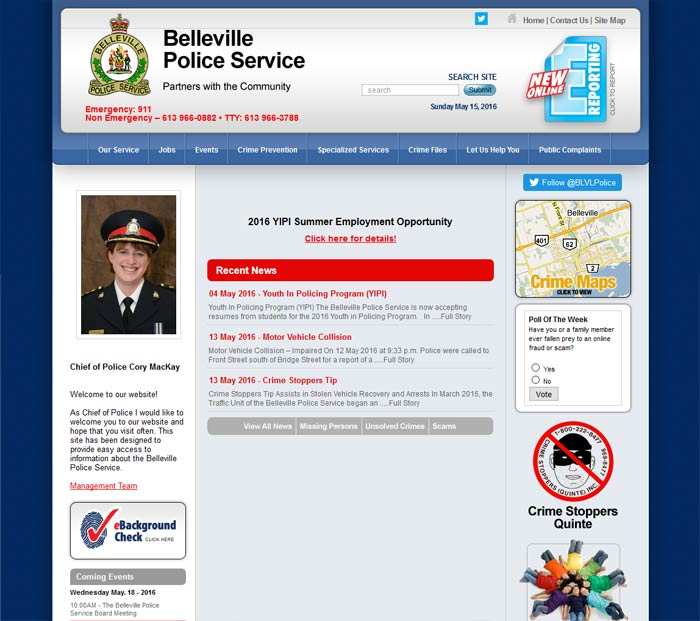 Police services website