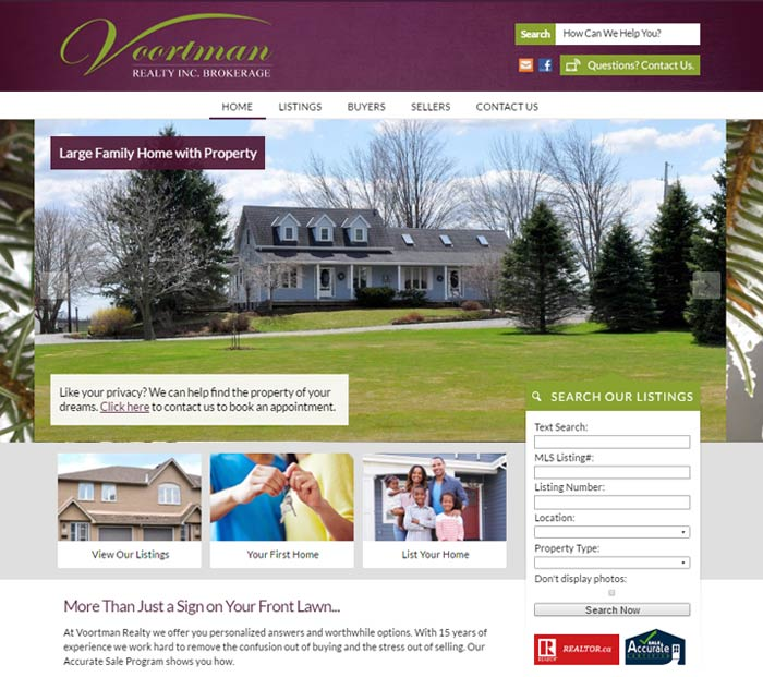 Realtor Real Estate Website